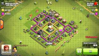 Clash Of Clans - On tente de m'attaquer full Barbares ! Fail or not Fail ???