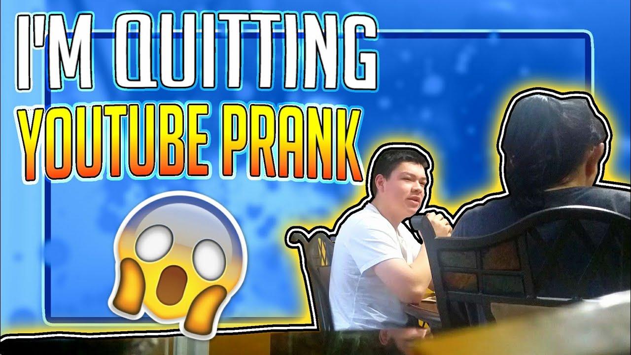 I Am Quitting Youtube Prank On My Parents Youtube