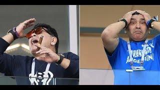 Maradona Messi Players React to Argentina loss - Croatia vs. Argentina 3-0 World Cup 2018