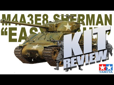 """Kit Review: Tamiya 25175 M4A3E8 Sherman """"Easy Eight"""" in 1/35"""