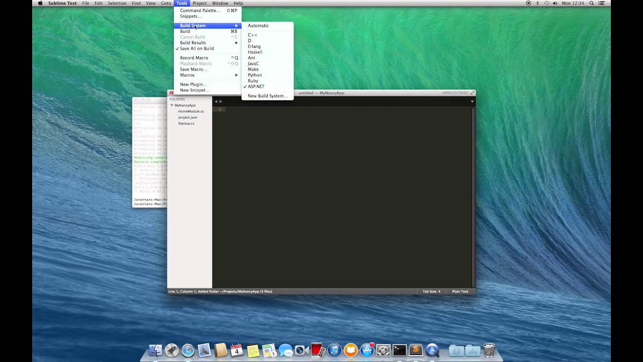 Nancy Blog - Nancy, ASP Net vNext, OSX and Sublime Text