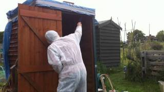Angry Wasp Nest Removal Video. DIY method, low cost. channel 5 diy dummies