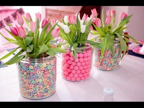 Como hacer centro de mesa para fiestas hogartv por juan for Como hacer adornos con plantas artificiales