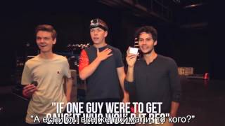 Dylan O'Brien and Maze Runner cast play fugitive rus subs