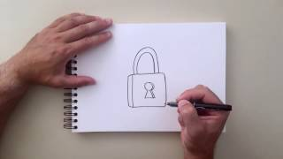 How to Draw - Pad Lock