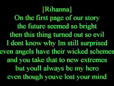 OFFICIAL LOVE THE WAY YOU LIE PART 2 (WITH LYRICS ON SCREEN)  FT RIHANNA AND EMINEM