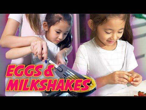 Kid Learns To Make Breakfast