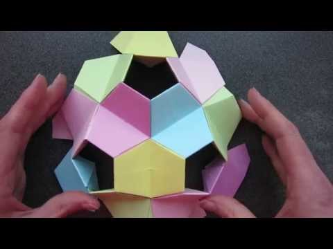Papercraft origami - kusudama - little turtle - tutorial - dutchpapergirl