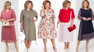 Стильные летние платья для полных женщин Одежда Притти