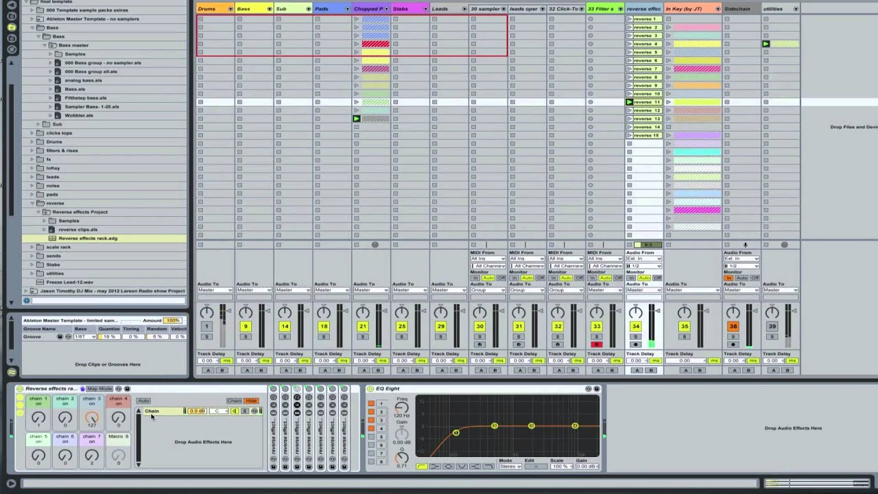 Ableton Master Template: Reverse effects | Ableton Tutorial ...
