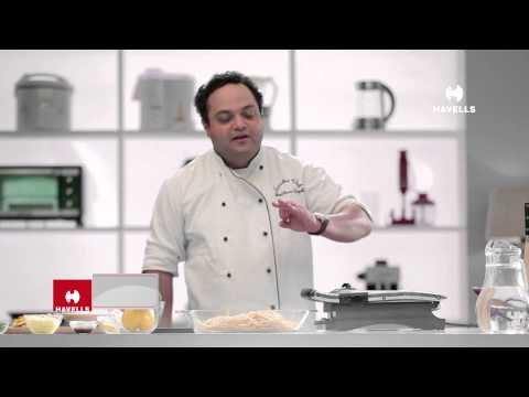 Italian Grilled Chicken with Tossed  Spaghetti with Havells Sandwich press grill by Chef Shantanu