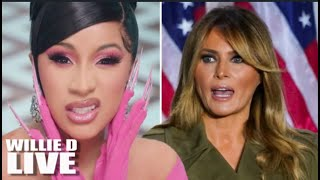 """Cardi B Release Nude Pics of Melania Trump: Says """"She Used To Sell Her WAP'"""