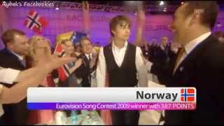 Alexander Rybak - winning the ESC final 2009