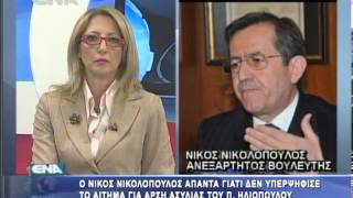 Γιατί δεν υπερψήφισε το αίτημα της άρσης ασυλίας ο Νίκος Νικολόπουλος