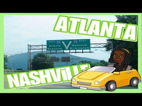 ROADTRIP TRAVEL VLOG: 1 DAY IN ATLANTA, NASHVILLE | tlovespeaksss