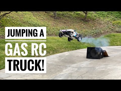 AIR-TRUCK! Losi 5ive-T 2.0 RC Gas Truck JUMPING RAMP - Killer RC, DDM Goodies - Smith RC Studios