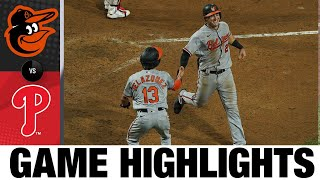 Hays' inside-the-park HR lifts O's | Orioles-Phillies Game Highlights 8/11/20