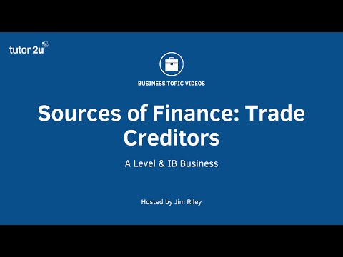 Sources of Finance - Trade Creditors