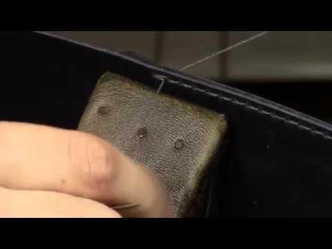 Как сделать ровный шов, Седельный шов, основы работы с кожей.