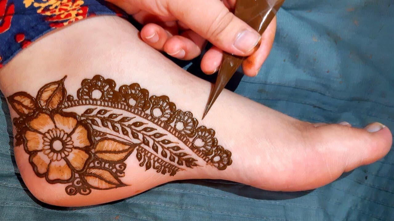 Stylish New Bridal Arabic Feet Mehndi Design | Beautiful Foot Mehndi Design | Easy Leg Mehndi Design