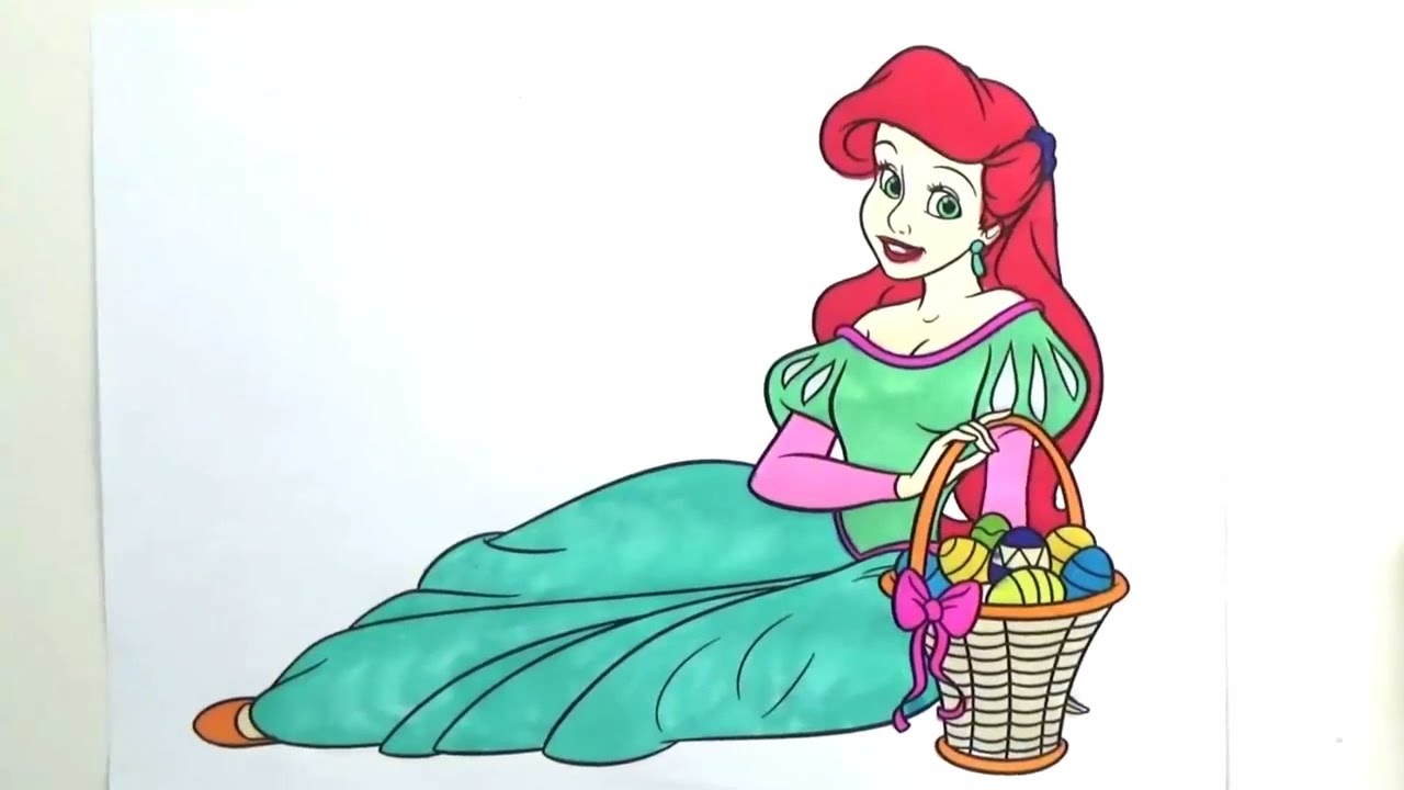 princess ariel coloring book disney princess coloring pages for kids - Ariel Coloring Book