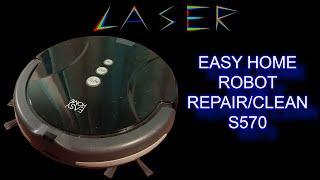 aldi easy home S570 robot vacuum teardown, repair and clean