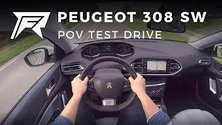 2017 Peugeot 308 SW 1.2 PureTech 130 - POV Test Drive (no talking, pure driving)