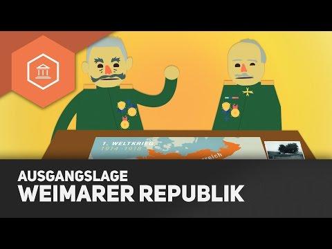 Die Weimarer Republik: Ausgangslage - Die Niederlage im 1. Weltkrieg wird unvermeidbar