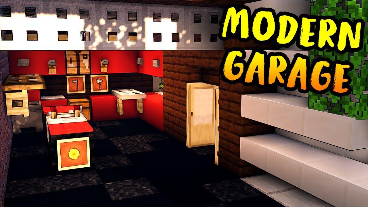 How to Build a Modern Garage in Minecraft - Modern House ...