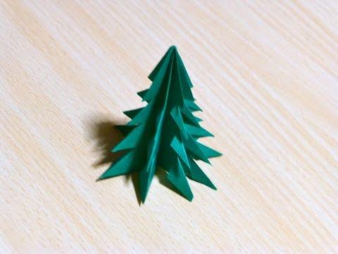 ศิลปะการ พับกระดาษ ต้นคริสต์มาส