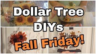 DOLLAR TREE FALL DIY 🍁 | FALL HOME DECOR | FALL FRIDAY