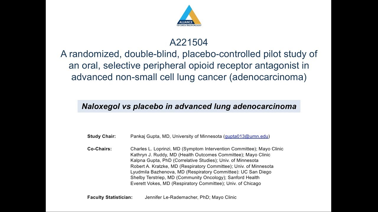 A221504: Naloxegol in Treating Patients With Stage IIIB-IV ...