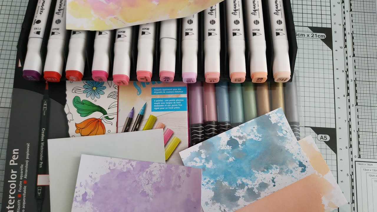 Tests Feutres Aquarelle Action Vs Lidl Youtube