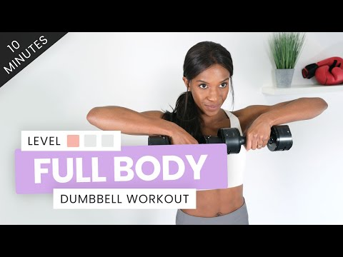 DUMBBELL WORKOUT TOTAL BODY 10 MINUTES