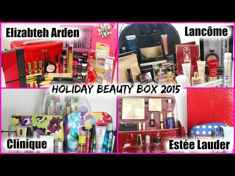 Holiday Beauty Box 2015  Estée Lauder Lancôme Elizabeth Arden Clinique Lise Watier | chitchat