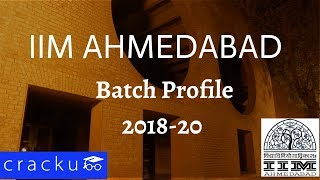 IIM Ahmedabad Batch Profile 2018-20 - PGP
