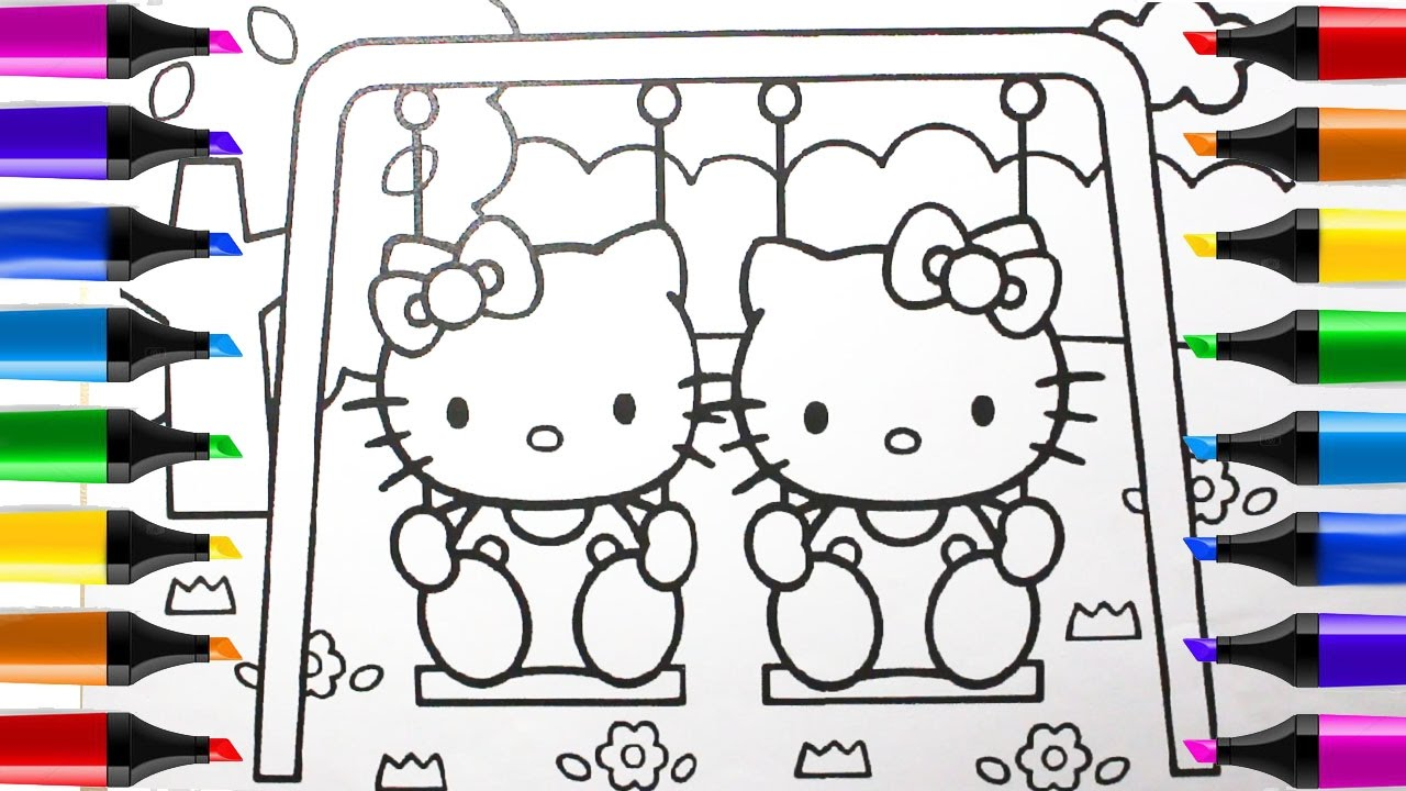 book kitty drawing hello kitty coloring youtube