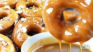 CARAMEL PUMPKIN SPICE DOUGHNUTS | Recipe by Mary
