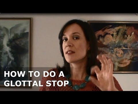 How to do a glottal stop for singing