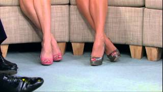 Amy Robach & Ginger Zee - hot legs and high heels close up - March 20, 2014