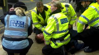 11th August 2014 Kedem protest - GMP arrest of passer by at protest