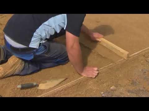 Как правильно класть тротуарную плитку на песок видео