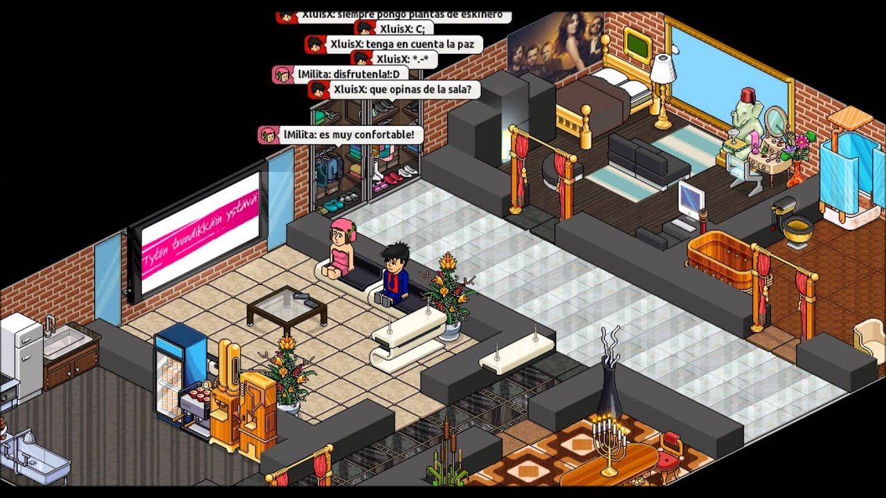 Tips para una linda habbo casa youtube for Casa moderna haddoz
