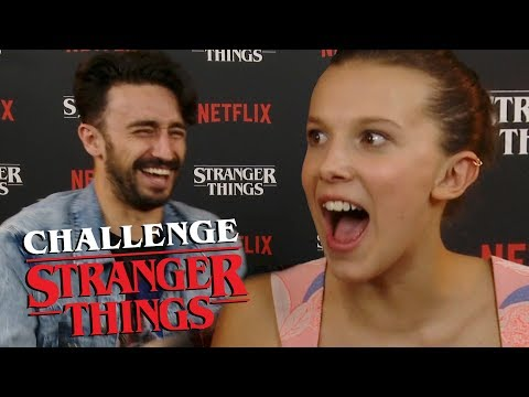 STRANGER THINGS CHALLENGE WITH ELEVEN AND WILL!!!