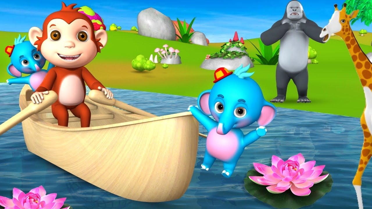 Monkey And Crazy Baby Elephant Naughty & Funny activities Bedtime Comedy Cartoon Videos Funny