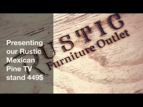 Rustic Mexican Pine TV stand