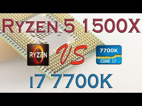 RYZEN 5 1500X Vs I7 7700K - BENCHMARKS / GAMING TESTS REVIEW AND COMPARISON / Ryzen Vs Kaby Lake