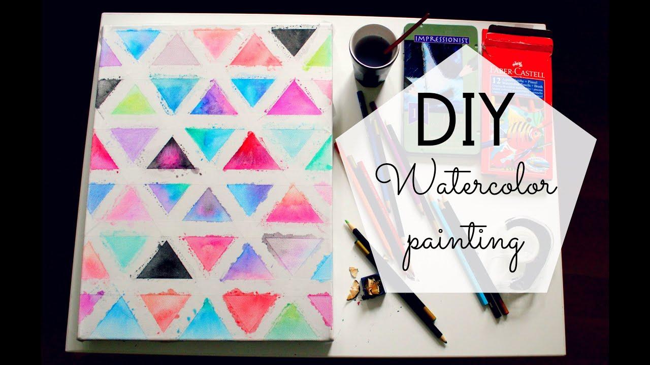 Watercolor Canvas Art Diy