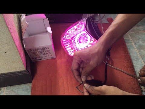 ไฟโปรเจคเตอร์ราคา500บาทดวงให�่ ใส่�ับโคมไฟหน้าโซนิคตัวเ�่า