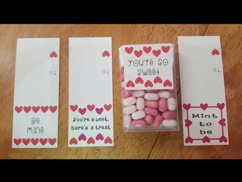 Valentine's Day Treats Part 2! | PDF templates now available! | DIY Valentine Treats